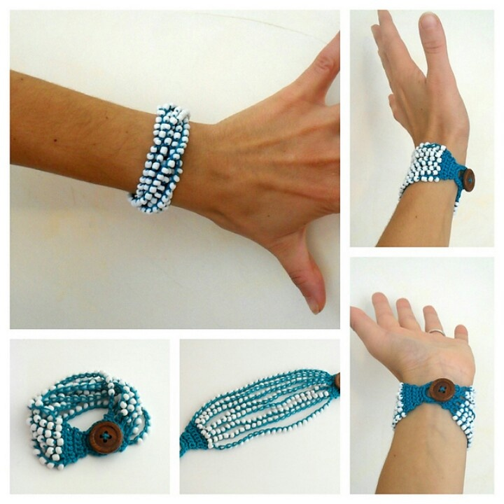 crochet beaded bracelet instructions