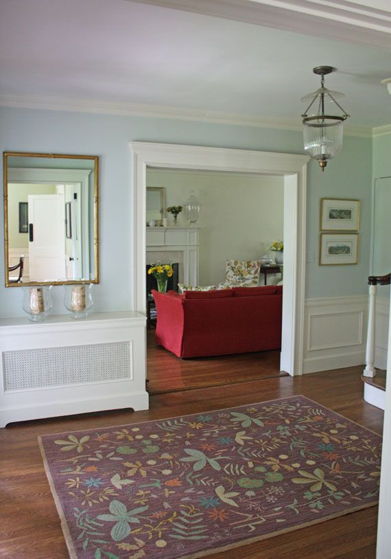 Use A Robin Egg Blue Shade In The Hall Have Beige Living Room With