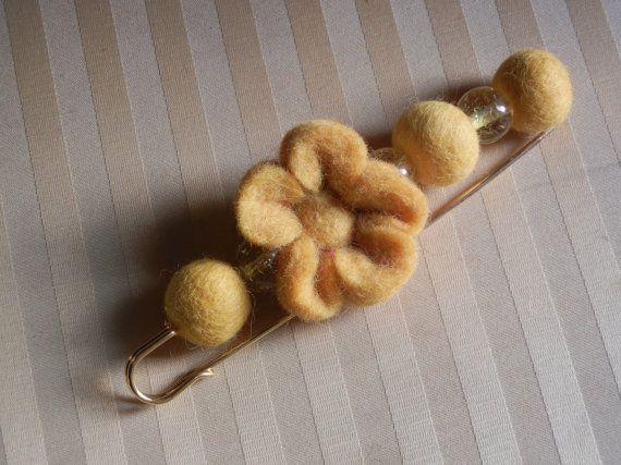 Felt and Beads Brooch