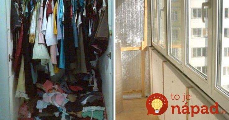 Máte preplnené skrine a málo miesta v byte? 30 skvelých tipov, ako získať extra úložný priestor na balkóne!