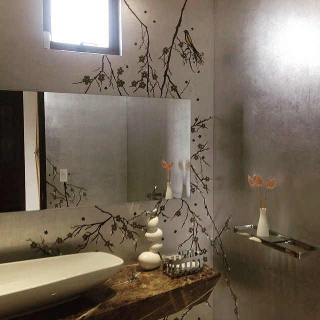 Mural baño Hojilla