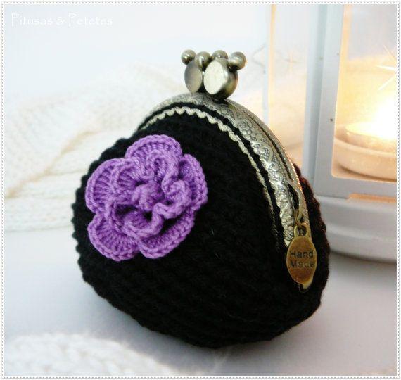 Monedero // Bolso de ganchillo Bag // Crochet coin purse ♡