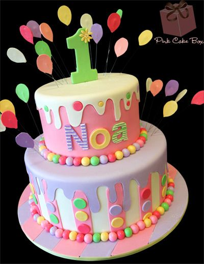 Tartas de cumpleaños - Birthday Cake - Noa's 1st Birthday Cake! Happy Birthday Noa!