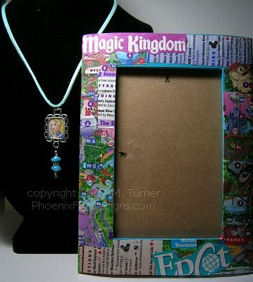 Disney Map frame - love this idea as well as the plan to put a photo of the castle in it!