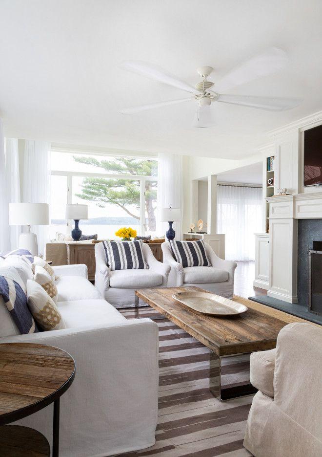 Striped Rug. Living room with striped rug. Grey stripes. The grey striped rug is by Madeline Weinrib. #StripedRug #MadelineWeinrib Chango & Co.
