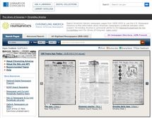 Access Thousands of Historic Newspapers Online: Chronicling America