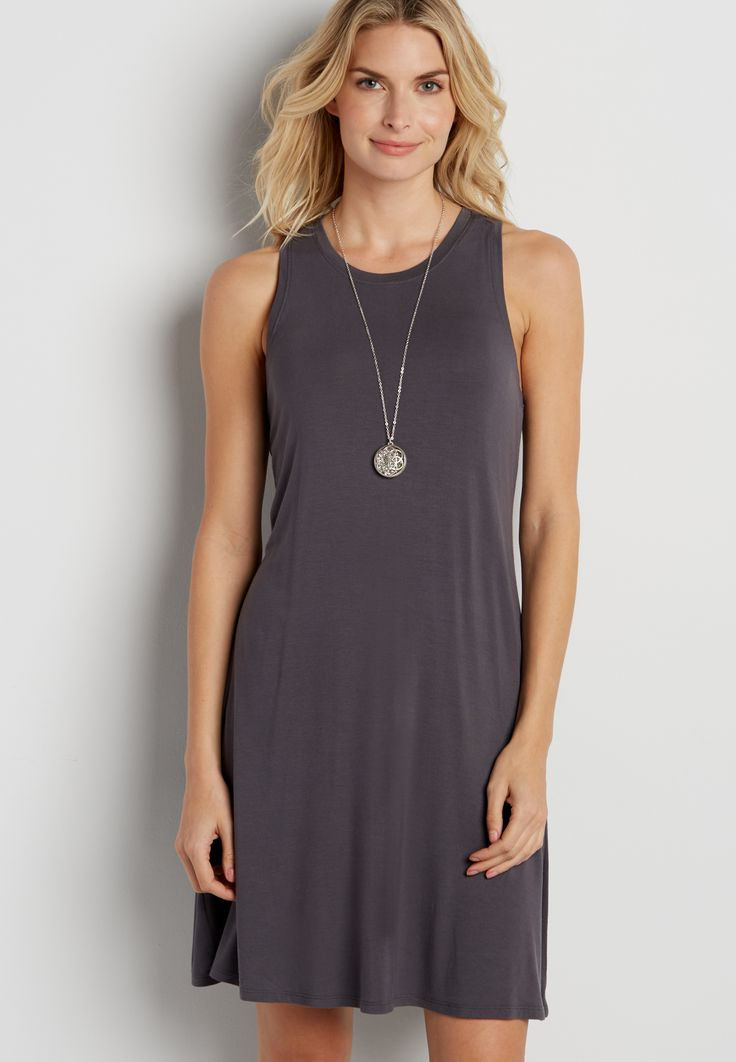 the 24/7 sleeveless t-shirt dress (original price, $24.00) available at #Maurices