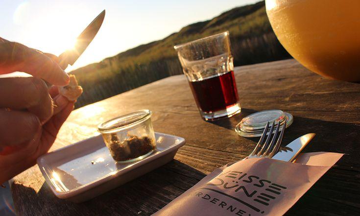 Abendessen auf Norderney in der weißen Düne ist eine echte kulinarische Empfehlung und ein Food Highlight auf der Nordseeinsel.