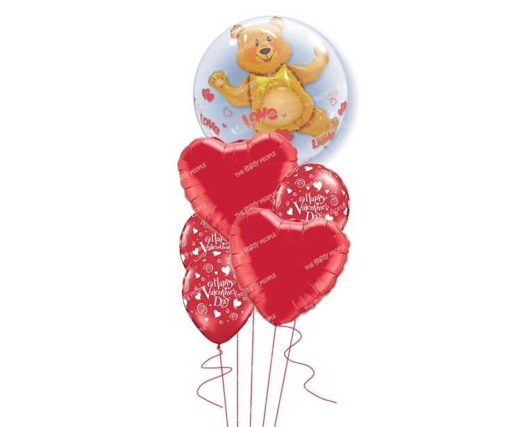 Valentine's Bouquet - Love Bear, Inflated