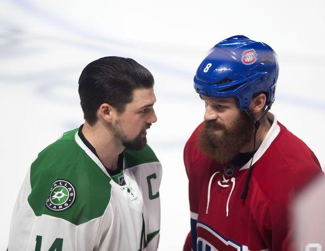 Les frères Jamie (à gauche) et Jordie Benn s'affrontaient pour la première fois dans la LNH, hier soir à Montréal. Ils ont joué ensemble pendant six saisons avec les Stars de Dallas.