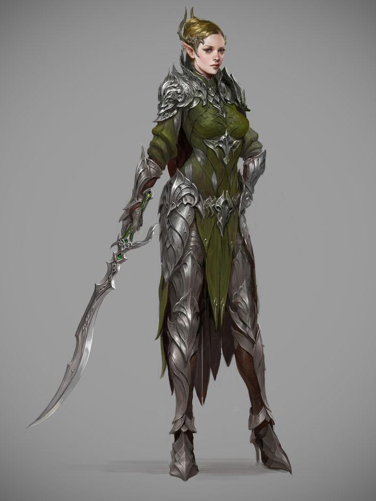 ArtStation - elven knights costume for archeage , Sungryun Park