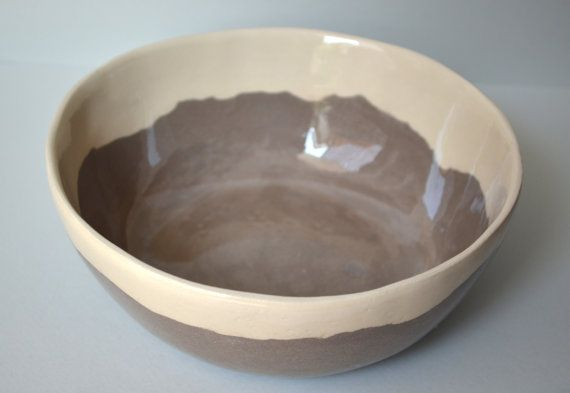 Stoneware serving bowl by Marina. by fourblueowls on Etsy, €25.00