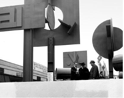 Achille e Pier Giacomo Castiglioni, Pino Tovaglia, Padiglione per la Fiera di Milano / Pavilion for Fiera di Milano La Rai per la divulgazione scientifica, 1963, courtesy Archivio Storico Fondazione Fiera Milano
