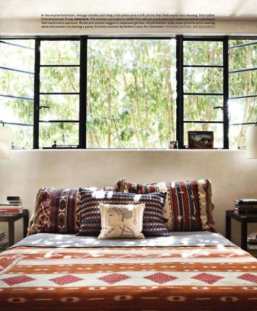 these windows. this bedspread.