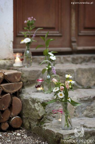 6. Cherry Wedding,Outdoor decoration,Field flowers / Czereśniowe wesele,Polne kwiaty,Anioły Przyjęć