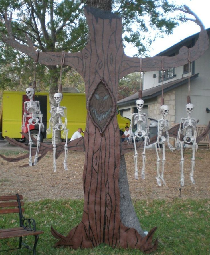 this is a full shot of the skeleton tree from nightmare before christmas that i made for halloween 2011 along with the mummyboy to go with our jack and