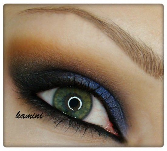 evening with blue accent – Makeup Geek Idea Gallery