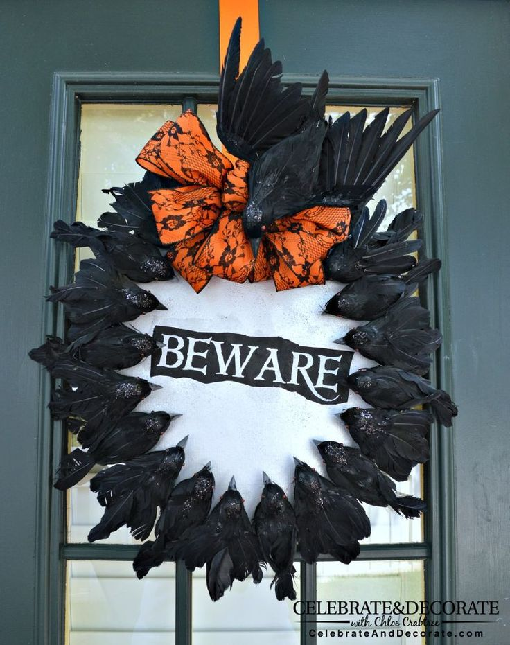 Create a Halloween Wreath With Creepy Crows