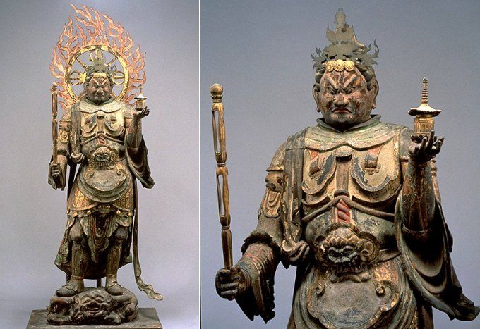 Tamonten (also Bishamonten) -- Lord of the North, Member of Shitenno (Japanese Buddhism & Sculpture)