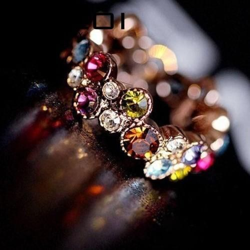 Austrian Crystal Gold Multicolor Ring - FREE SHIPPING