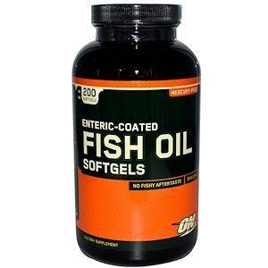 <b>Optimum Nutrition</b>, Enteric Coated <b>Fish Oil</b>, 200 Softgels