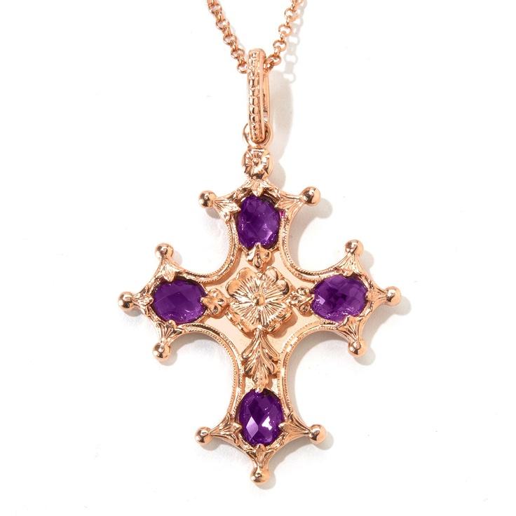 Vintage Renaissance Cross with gorgeous Purple Amethyst.....for Shop NBC.