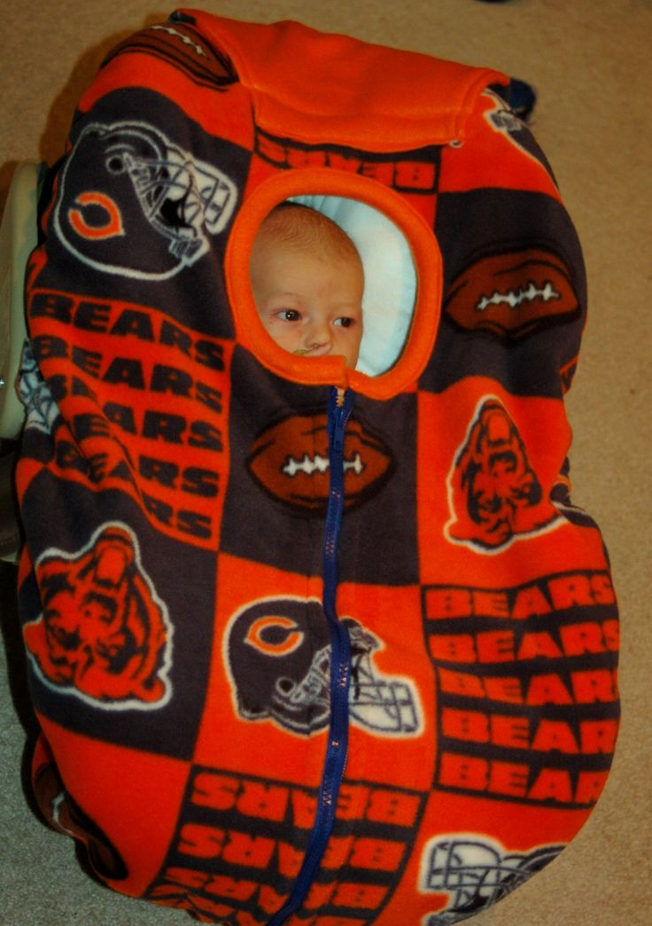Chicago Bears baby car seat cover by reelstitch on Etsy, $29.95