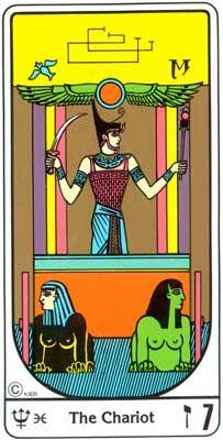 7. El Triunfo (O Carro) no Tarot Egipcio da Kier