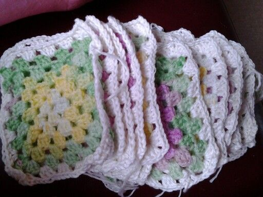 Beautiful squares ready to be sewn together! #crochet #handmade #blanket