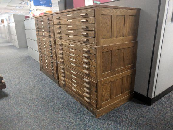 These Are One Of Our Most Sought After Items The Hamilton Flat File In Wood Much Nicer Than Anything Flat File Cabinet Filing Cabinet Flat Files