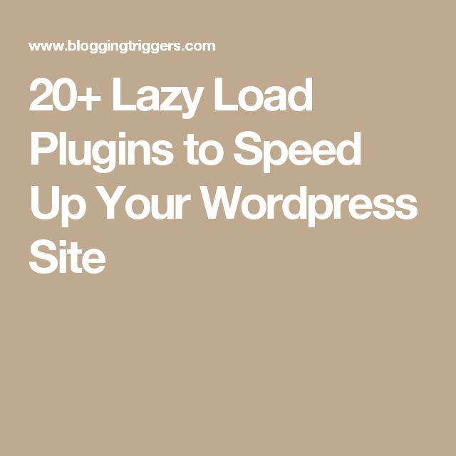 20+ Lazy Load Plugins to Speed Up Your Wordpress Site