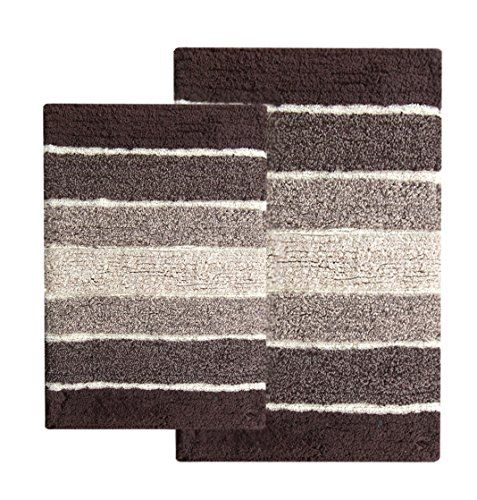 The #Chardin #Home contemporary bath mat set (set of 2) is a set of essential bathroom rugs that do not compromise on style for the sake of functionality. The rug...