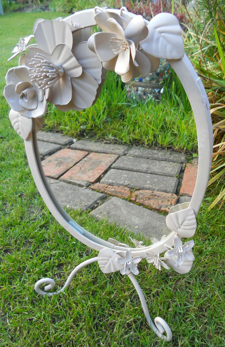 VINTAGE METAL TOLL WARE DRESSING TABLE MIRROR ~ SOLD ON MY EBAY SITE LUBBYDOT1