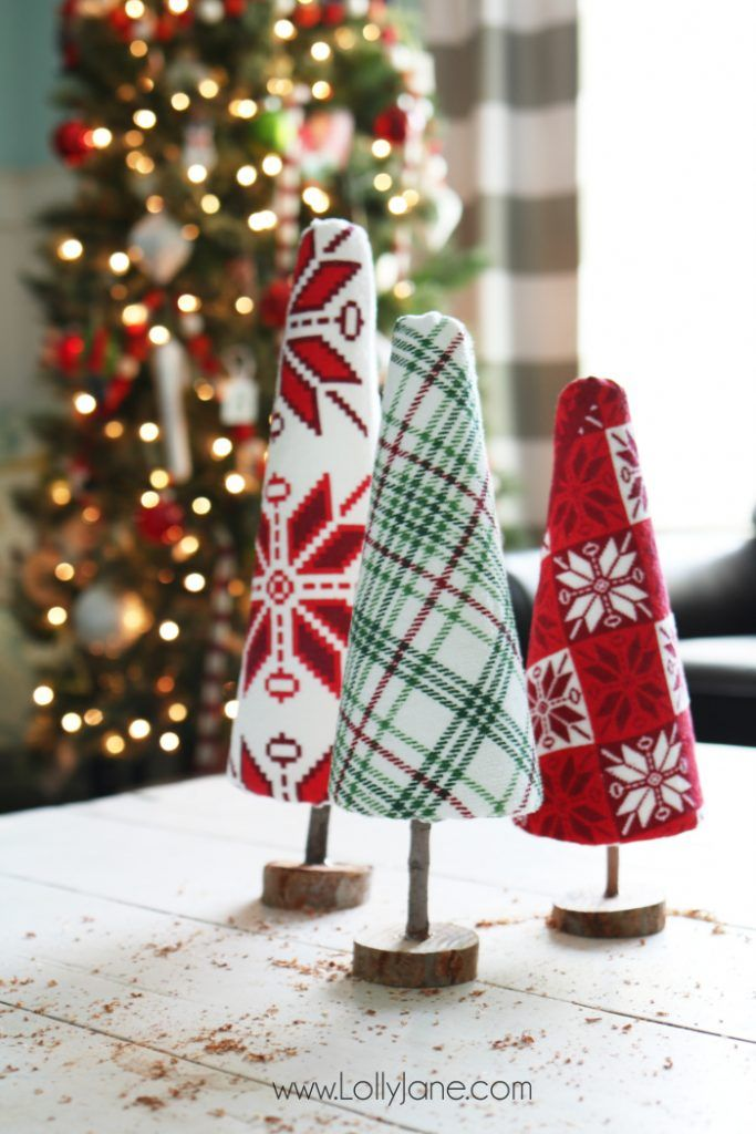 diy ugly sweater trees craft Nordic ChristmasEasy