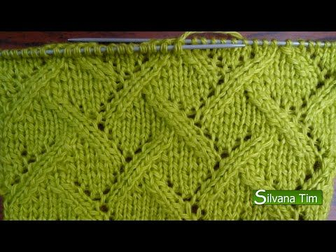 Silvana Tim - Tejido con dos Agujas, Crochet, Recetas de Cocina: PUNTO CALADO RAMAS SIMPLES. Tejido con dos agujas # 58