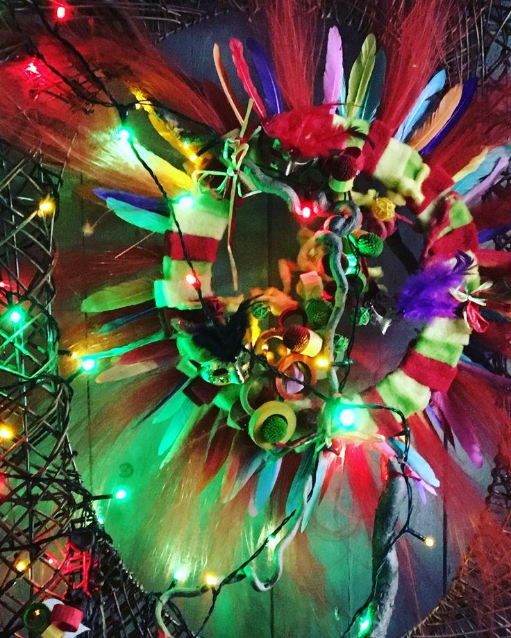 Carnavals krans met verlichting