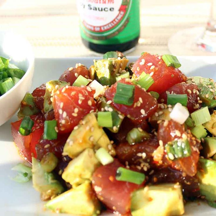 Ahi tuna poke recipe fish dishes hawaiian and fish for Hawaiian fish recipes