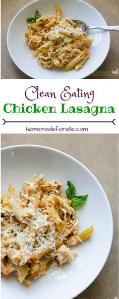 Clean Eating Chicken Lasagna in a Crock-Pot | homemadeforelle.com