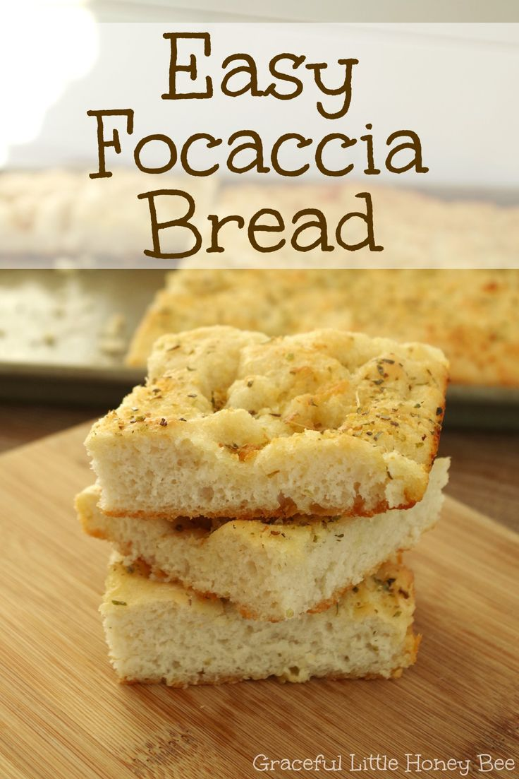 See how to make this DELICIOUSLY easy homemade focaccia bread on gracefullittlehoneybee.com