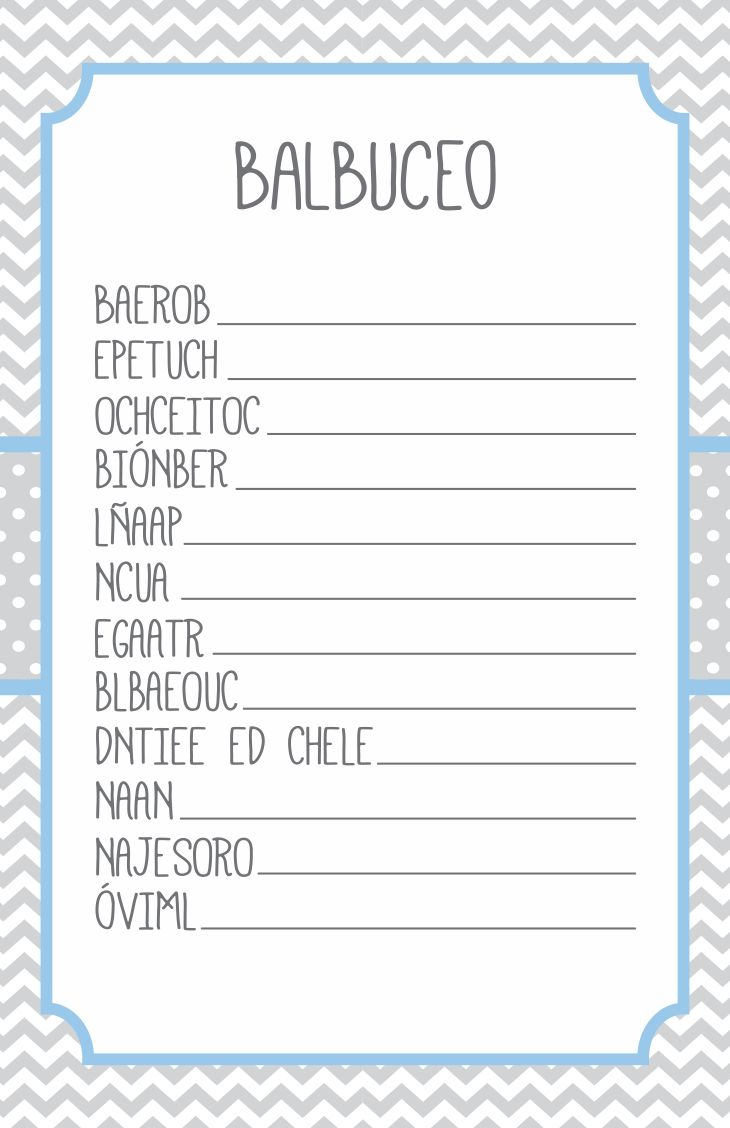 32 best Juegos para Baby Shower images on Pinterest | Baby ...