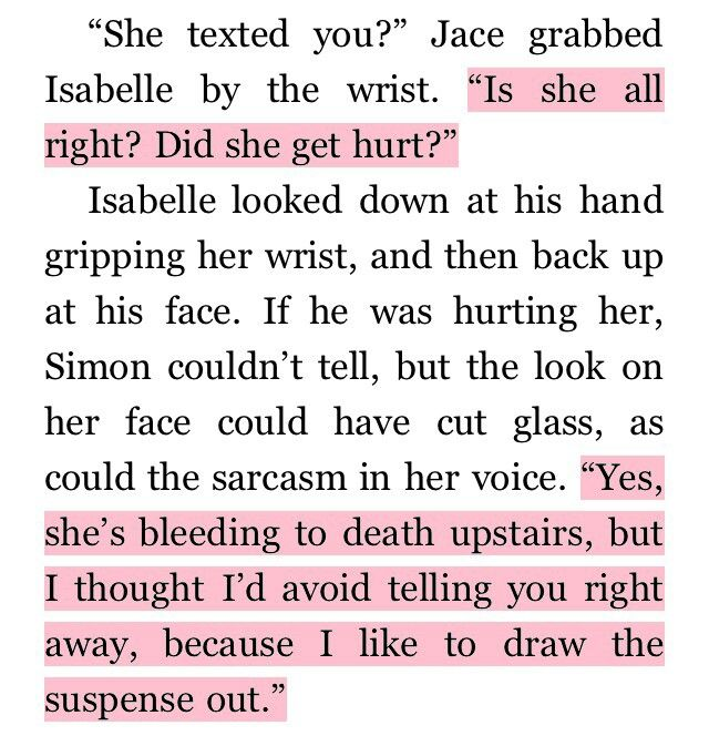 City of Fallen Angels: Jace Herondale/Lightwood and Isabelle Lightwood