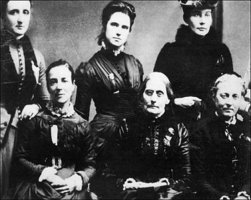 SUFFRAGETTES, 1888. Some of the members of the Executive Committee of the First International Council of Women, 1888. Susuan B. Anthony is seated, center.