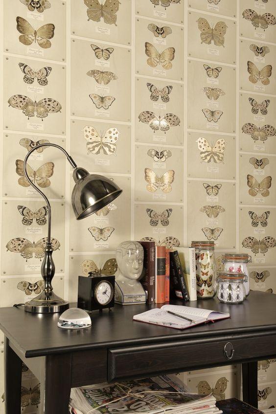 vibrant butterfly wallpaper design - Designer Wallpaper For Bathrooms