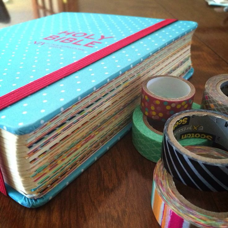 Washi tape the first page of every chapter
