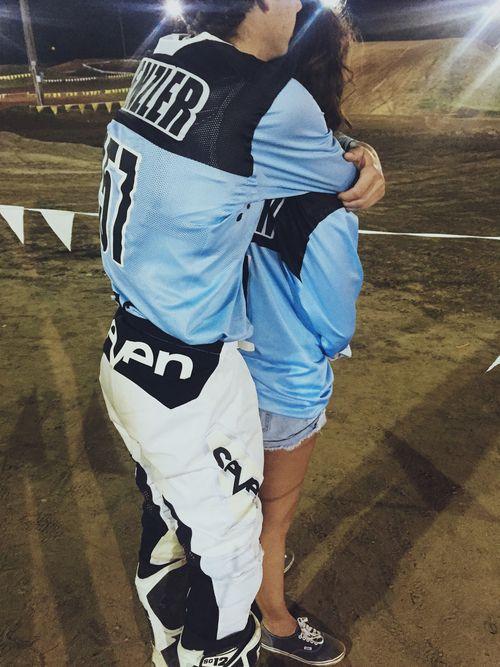 couple, motocross, and Relationship Bild