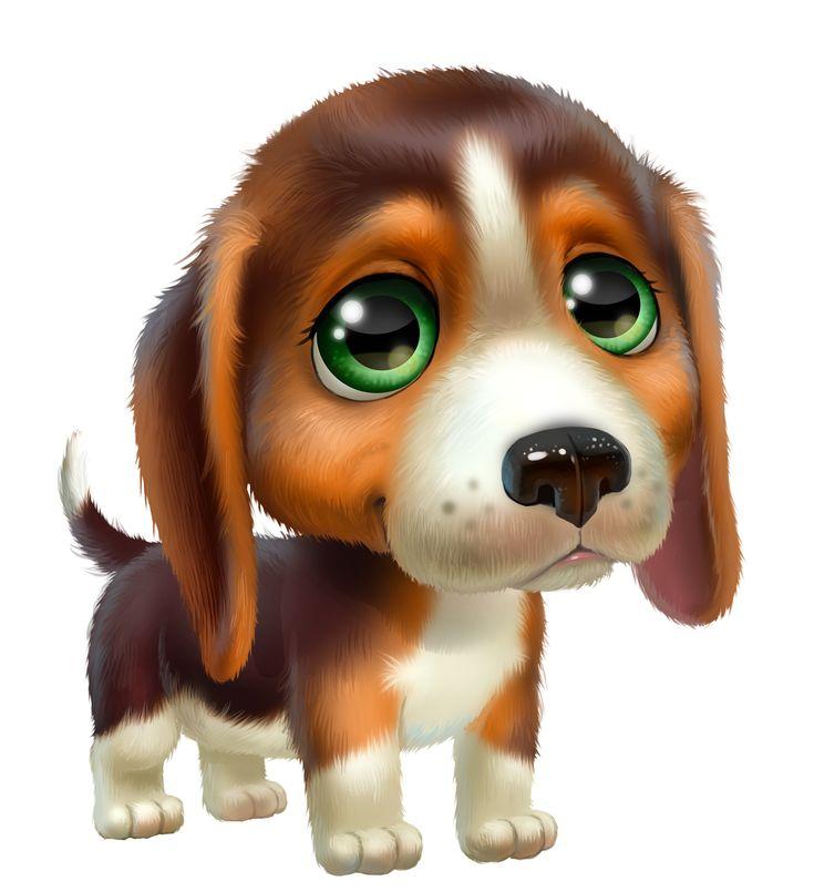 Красивые картинки с мультяшными собачками