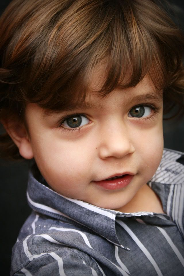 Little boys with brown hair