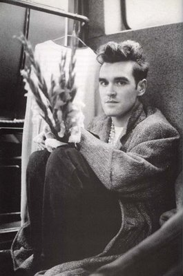 Morrissey and flowers go together like strawberries and chocolate