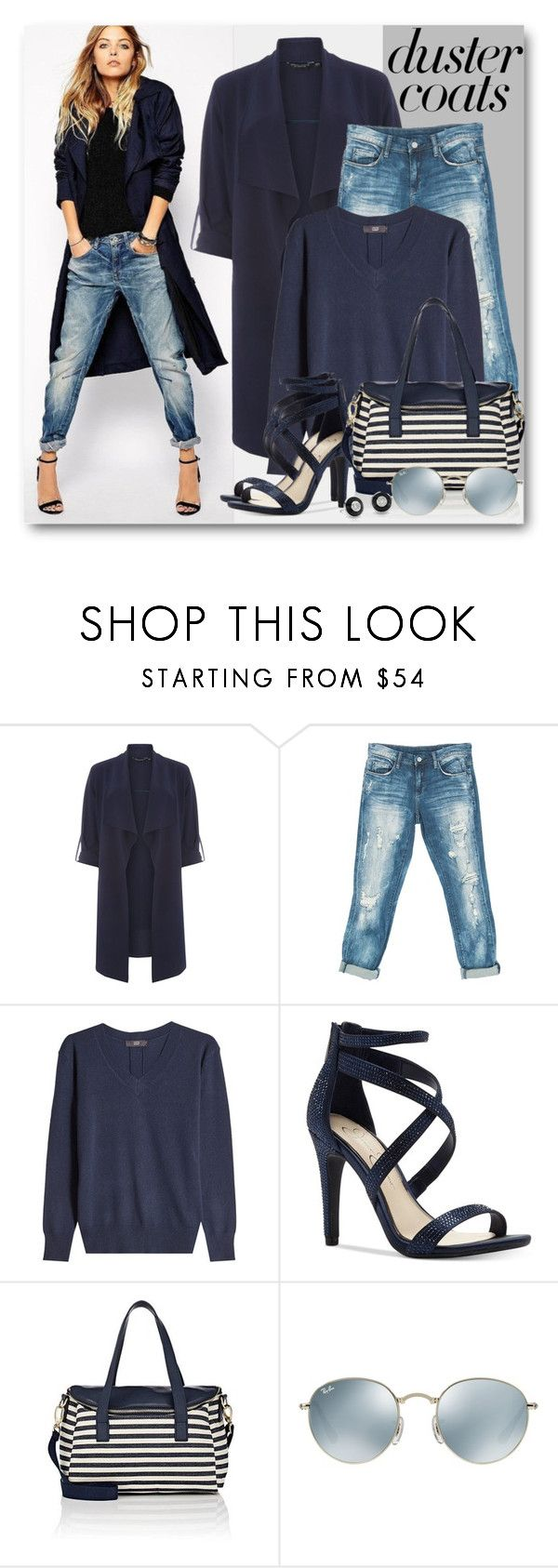 """""""Long Layers: Waterfall Duster Coat"""" by brendariley-1 ❤ liked on Polyvore featuring Dorothy Perkins, Sans Souci, Steffen Schraut, Jessica Simpson, Barneys New York, Ray-Ban and DusterCoat"""