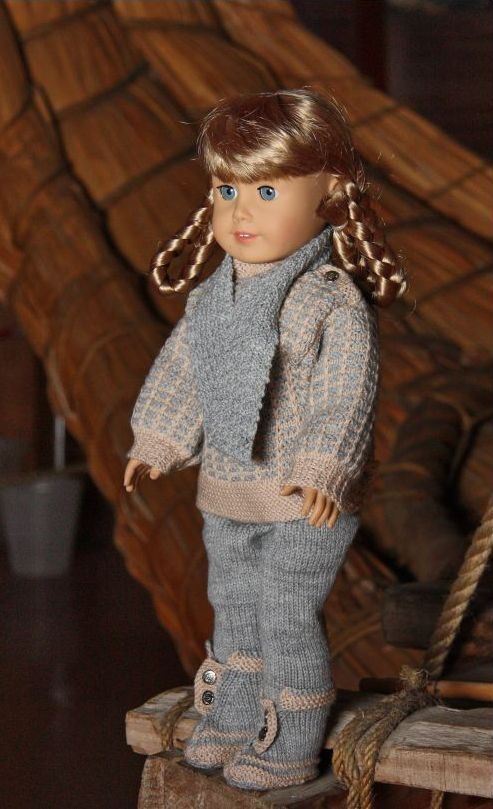 "American Girl 18"" Doll knitting pant, sweater, scarf, hat and gloves pattern. I wish I could knit!"